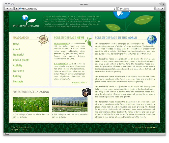 webdesign - Forest for pease